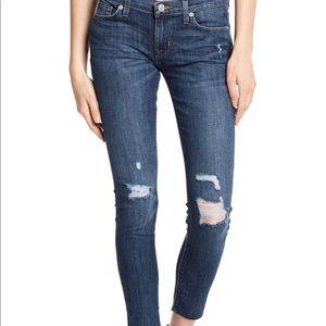 Hudson Krista raw hem super skinny ankle jeans